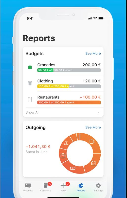 Outbank App Screenshot - Reports